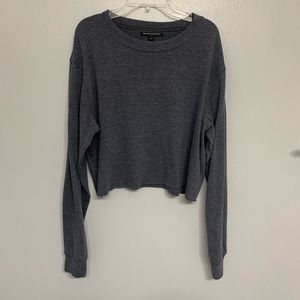 Brandy Melville cropped long sleeve top